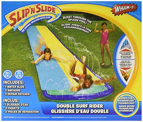 Wham-O Slip 'N Slide Surf Rider Double Sliding Lanes 16ft , color may vary