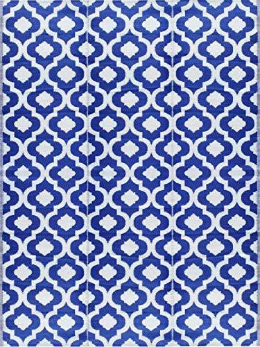 BalajeesUSA 9'x12' Indoor Outdoor rugs Patio mat Plastic Straw Camping rug RV Picnic mats Wholesale Price Dark Nv Blue 4484
