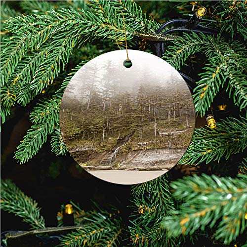 aosup Oswald Waterfall/Christmas Ornaments 2020 Christmas Ceramic Pendant Personalized Creative Christmas Decorations Double Sided Christmas Tree Ornament №IS101198