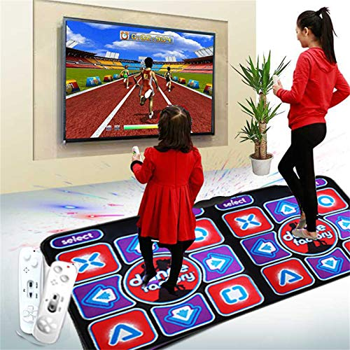 Double User Dance Mat – Dance Mat Game for Kids & Adults – Wireless Dancer Step Pads with 200 Dances Music and 68 Games – High Elasticity and Sensitivity, Multi-Function Games & Levels for PC/TV