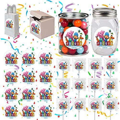 Pocoyo Party Favors Supplies Decorations Stickers 12 Pcs