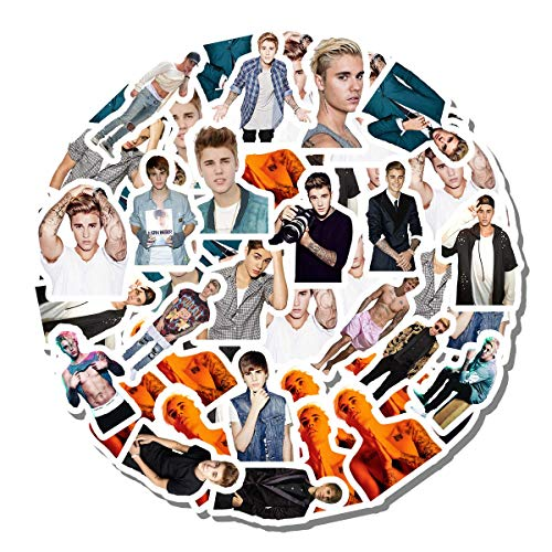 20 PCS Stickers Pack Justin Aesthetic Bieber Vinyl Colorful Waterproof for Water Bottle Laptop Scrapbooking Luggage Guitar Skateboard