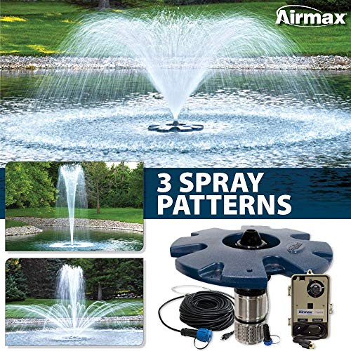 Airmax EcoSeries 1/2 HP Floating Fountain, 100' Cord, 3 Patterns & Control Panel
