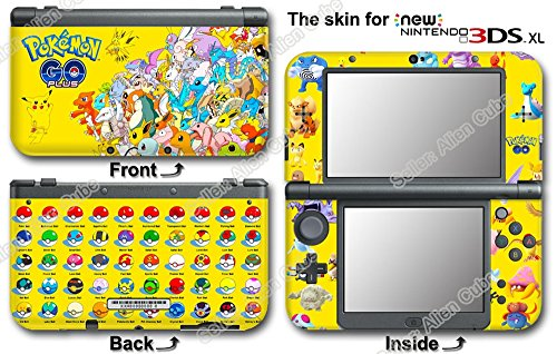 Pokemon Go Yellow Edition Skin Sticker Decal Cover #2 for NEW Nintendo 3DS XL