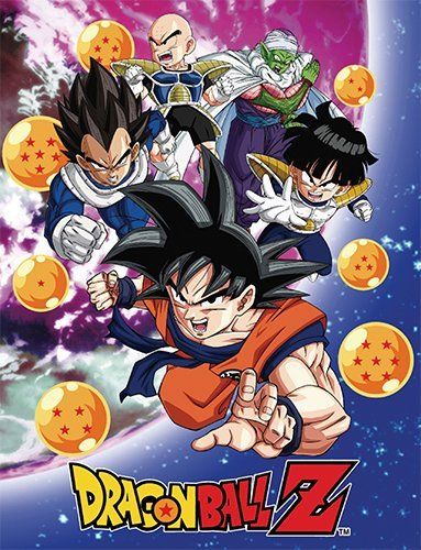 Dragon Ball Z GE-57756 Group Galaxy Throw Blanket, 46 x 60'