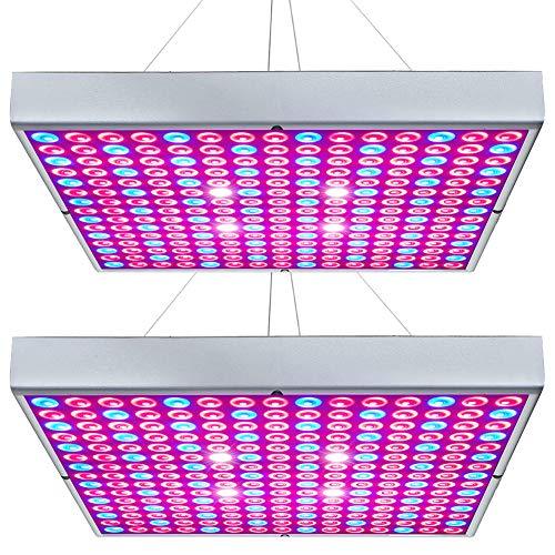 Hytekgro LED Grow Light 45W Plant Lights Red Blue White Panel Growing Lamps for Indoor Plants Seedling Vegetable and Flower (2 Pack)