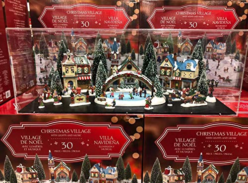 Christmas Village Animated with Lights and Music, 30 Pieces, Limited Edition