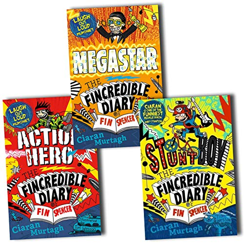 The Fincredible Diary of Fin Spencer 3 Books Collection - Action Hero, Stunt Boy, Megastar
