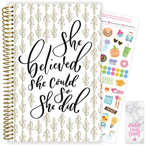 """bloom daily planners 2020-2021 Academic Year Day Planner & Calendar (July 2020 - July 2021) - 6"""" x 8.25"""" - Weekly/Monthly Agenda Organizer with Stickers and Bookmark - Writefully His"""