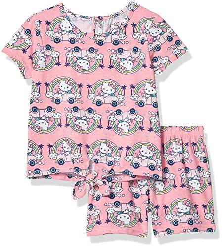 Hello Kitty Girls Sleeve Short Set, Pink, 4