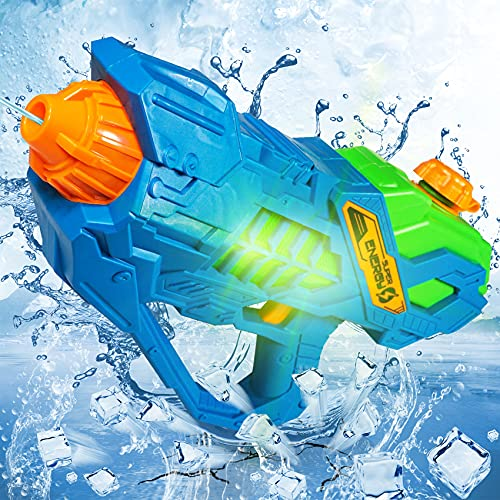 Water Gun Electric, Squirt Gun with Long Distance for Kids Boys Girls, Battery Operated, Super Water Toys for Outdoor Garden Swimming Pool, Suitable for 3 4 5 6 7 8 Years Old Kids