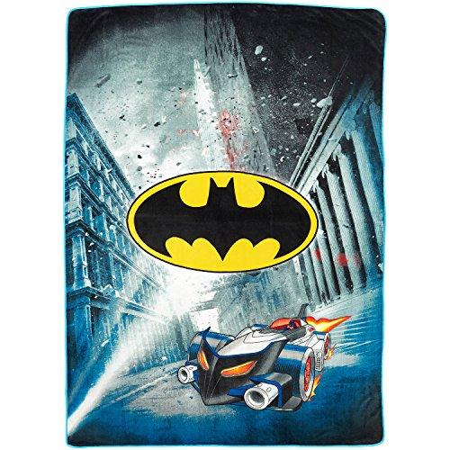 DC Comics Batman Blanket City Safe Throw Super Soft Plush Microfiber Twin/Full Size 62' x 90'