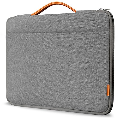 Inateck 13-13.3 Inch Laptop Sleeve Case Briefcase Cover Protective Bag Ultrabook Netbook Carrying Handbag Compatible 13' MacBook Air/MacBook Pro(Retina) 2012-2015, 2020/2019/2018/2017/2016, Gray
