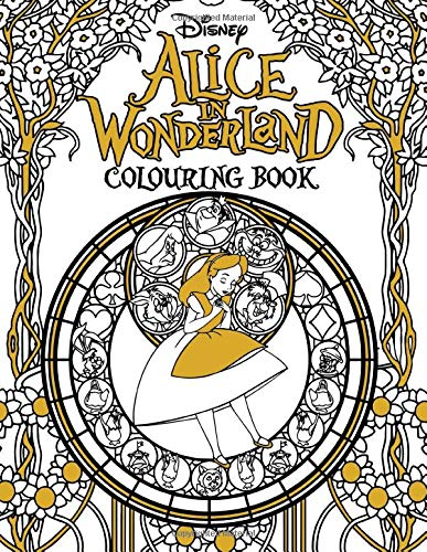 Dinsey Alice In Wonderland Colouring Book: Great Gift For Kids And Adults With Alice In Wonderland High Quality Illustrations