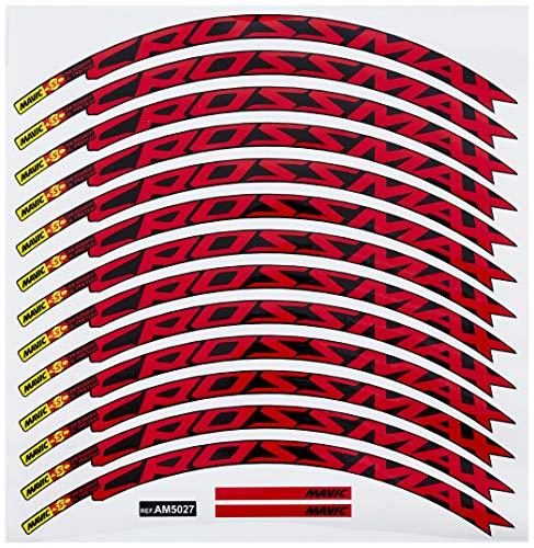 Ecoshirt JY-GBK5-EOVA Stickers Rim Mavic Crossmax SL Pro 27.5 Inches Am50 MTB Downhill, Red 26 Inches