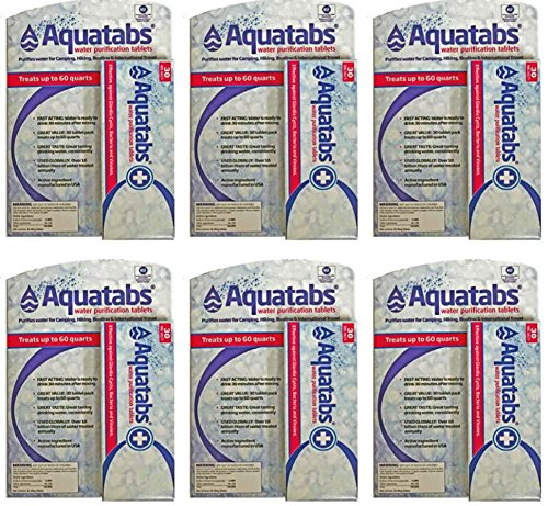 Aquatabs 180 Water Purification Tablets 180 (Pack 6) (Boxes of 30)