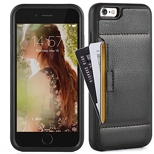 ZVE Case for Apple iPhone 6s Plus and iPhone 6 Plus, 5.5 inch, Slim Leather Wallet Case with Credit Card Holder Slot Pocket Protective Case Cover for Apple iPhone 6 Plus / 6s Plus 5.5 - Black