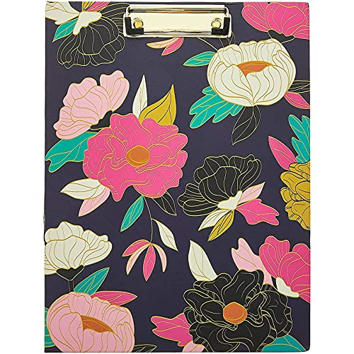 Floral Clipboard Folder with Notepad, Business Padfolio (12.75 x 9.7 in)