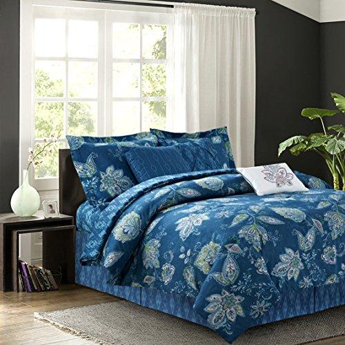 R2Zen Jaipur Teal 7-Piece Comforter Set, King