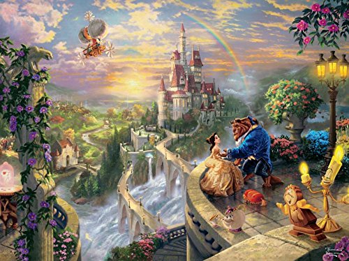 Thomas Kinkade The Disney Dreams Collection: Beauty and The Beast Falling in Love Puzzle, 750 Pieces, 24' X 18'