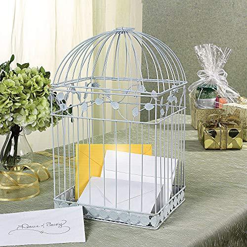 Fun Express White Birdcage Card Holder (Metal) Wedding and Home Decor