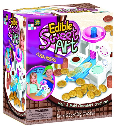 AMAV Toys DIY Chocolate Coin in A Press - Creating Yummy Chocolate Coins - Perfect Activity for Birthdays & Family Nights - Ideal for Kids Aged 7+ (1930)