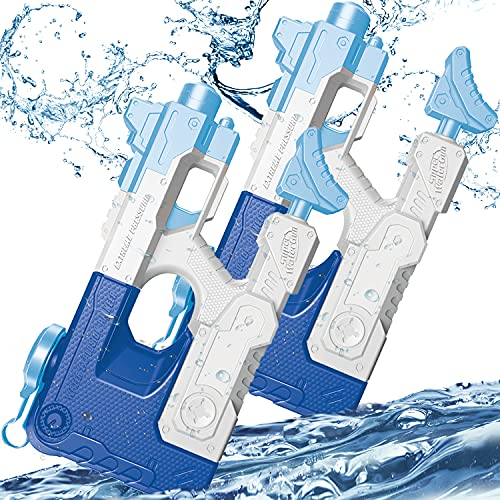 SAOCOOL Water Gun, 2 Pack Outdoor Toys Squirt Guns for Kids, 1200CC High Capacity Super Water Soaker & 30~35 Feet Long Range Water Toys for Kids and Adults