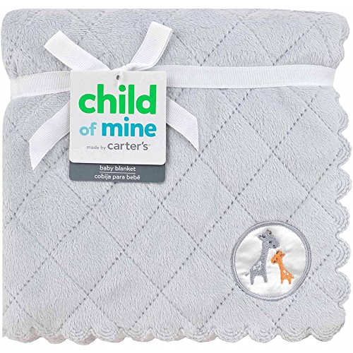 Child of Mine by Carter's Giraffe Family 2-Ply Quilted Valboa Blanket
