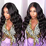 Body Wave Bundles with Closure 9A Brazilian Remy Human Hair Body Wave (10 12 14+8 Three Part) Unprocessed Brazilian Human Hair Weave 3 Bundles with Lace Closure