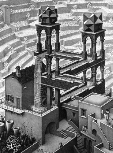 Buffalo Games M.C. Escher, Waterfall - 1000pc Jigsaw Puzzle