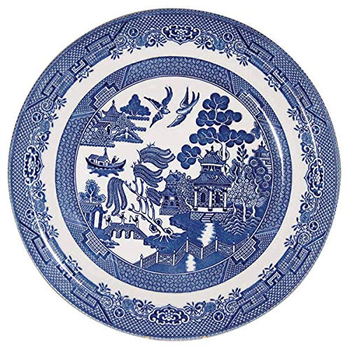 Churchill Blue Willow Plate 10' (Set of 6)