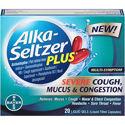 ALKA-SELTZER PLUS Plus Severe Cough, Mucus and Congestion Liquid Gels with Acetaminophen, 20 Count (82295631)