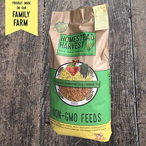 Homestead Harvest Non-GMO Turkey & Game Bird Starter 28% for Growing Turkeys, Quail, Peacocks, Guineas, Pigeons, and Pheasants - 40 lb