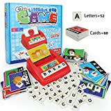 Matching Letter Game, Alphabet Reading & Spelling, Words & Objects, Number & Color Recognition, Educational Learning Toy for Preschooler, Kindergarten 3+ Years Toddler Old Kids Boys Girls (Style A)