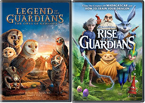 Rise of the Guardians + Legend of the Guardians DVD Cartoons Fantasy Animated Set