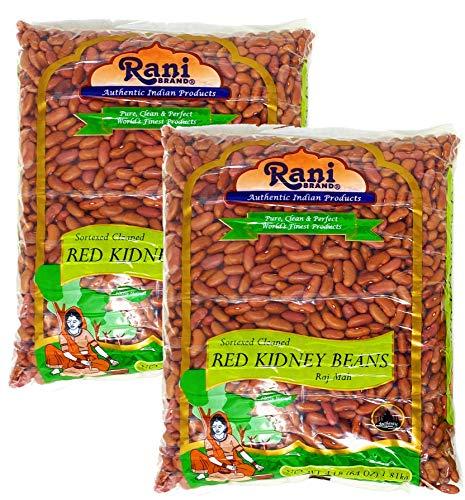 Rani Red Kidney Beans, Light 4lbs Pack of 2, 8lbs (128oz) Total ~ Bulk All Natural | Vegan | Gluten Free | NON-GMO | Raj Mah