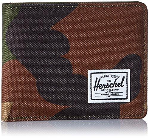 Herschel unisex adult Roy Rfid Bi Fold Wallet, Woodland Camo, One Size US