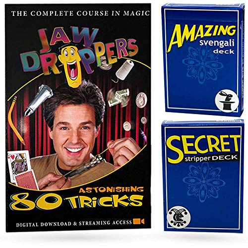 Magic Makers 80 Tricks Complete Course in Magic Jaw Droppers with Two Trick Decks