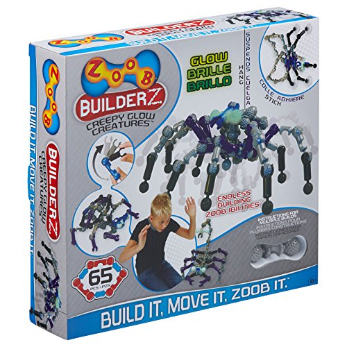 ZOOB BuiderZ Creepy Glow Creatures Moving Building System, 65 Pieces Kids Construction Set