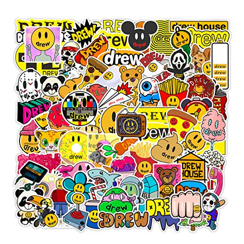 80Pcs Drew House Waterproof Stickers for Laptops Books Cars Motorcycles Skateboards Bicycles Suitcases Skis Luggage etc BWJ