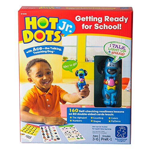 Educational Insights Hot Dots Jr. Getting Ready For School Set, 160 Lessons, Homeschool & School Readiness Learning Workbooks, Interactive Pen Included, Ages 3+