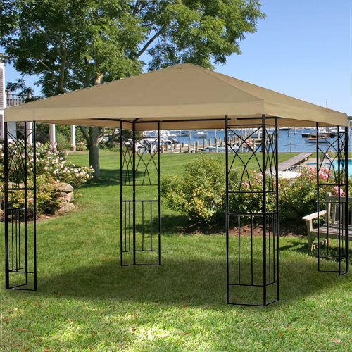Garden Winds Tivoli Single Tiered Gazebo Replacement Canopy Top Cover - RipLock 350