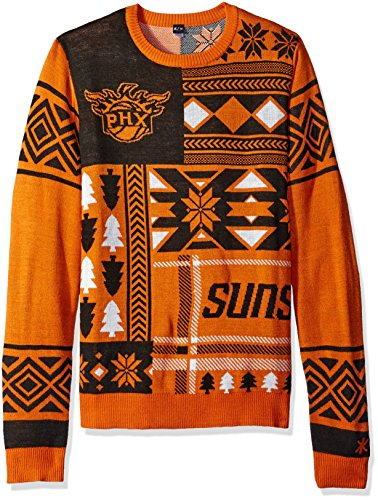 Phoenix Suns Patches Ugly Crew Neck Sweater Double Extra Large