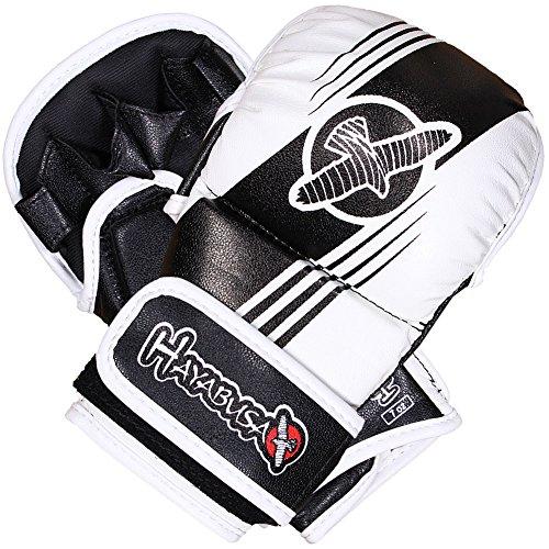 Hayabusa Ikusa Recast 7oz Hybrid MMA Gloves - Black/White, X-Large