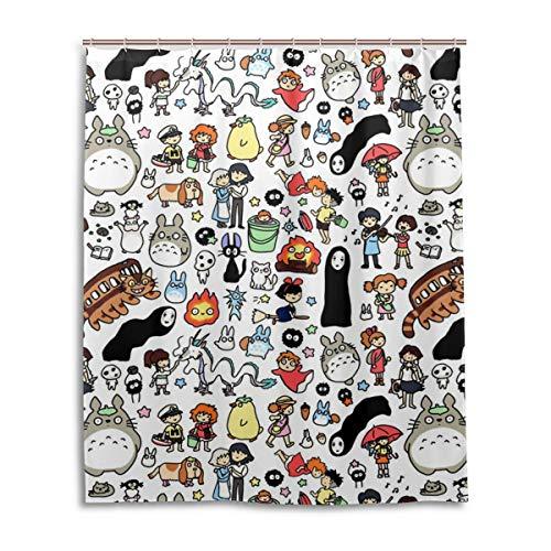 HUHAOSC Totoro Bath Shower Curtain Fabric Shower Curtains 60x72 Inch