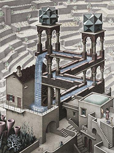 Buffalo Games - M.C. Escher - Waterfall - 1000 Piece Jigsaw Puzzle