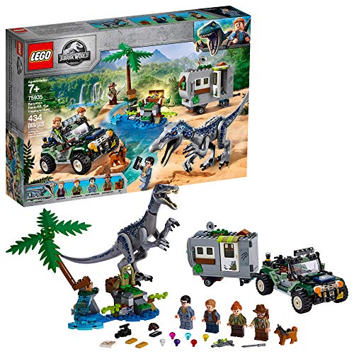 LEGO Jurassic World Baryonyx Face Off: The Treasure Hunt 75935 Building Kit (434 Pieces)