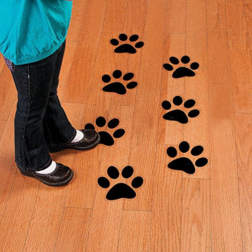 Fun Express - Paw Print Floor Decals - Party Decor - General Decor - Floor Clings - 12 Pieces