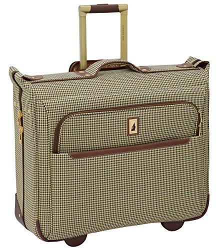 London Fog Cambridge II 44' Wheeled Garment Bag, Olive Houndstooth