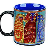 Laurel Burch Artistic Collection 14-ounce Mug, Canine Friends